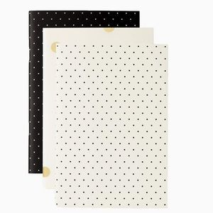 Kate Spade Notebook Set of 3 -NWT- Black Dot